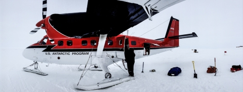 The Twin Otter loading up our last flight