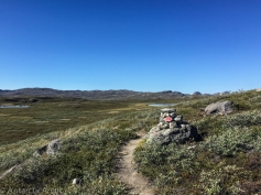 Trail and cairn